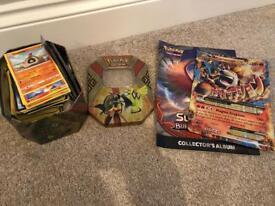 Large amount of Pokemon cards & Tin giant card
