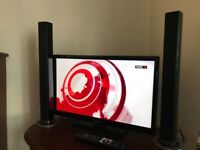 """24"""" TV and DVD combi with sound bar"""