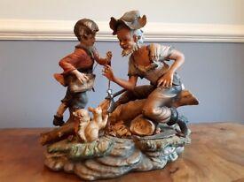 Beautiful Capo De Monte Figurine with Intricate Detail
