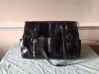 Vintage Authentic Leather Fossil Tote /Laptop bag