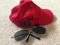 Build a Bear cap and sunglasses