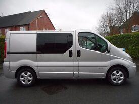 FINANCE ME!! NO VAT!! Renault Trafic Sport SWB Seat Crew Van, Reversing Camera, Sat Nav, Air Con!!