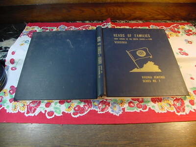 Heads Families First Census of  United States 1790 Virginia 1965 Reprint Book