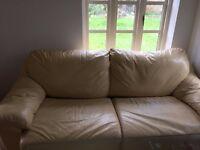 IKEA YELLOW LEATHER SOFA BED