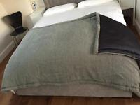 Bedspread throw and cushion covers
