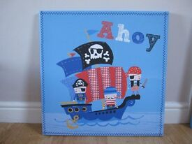 Next pirate canvas pictures x 2
