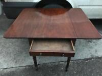 Mahogany drop leaf Pembroke table FREE DELIVERY PLYMOUTH AREA