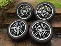 "17"" BMW M3 ALLOY WHEELS WITH TYRES PCD 5X120"