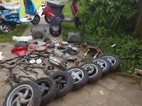Moped parts scooter ped 50cc piaggio gilera honda peugeot nrg 125 4t chineese