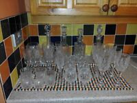 Cyrstal Cut glass decanters and glasses