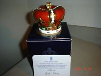ROYAL CROWN DERBY GOLDEN JUBILEE HERALDIC CROWN PAPERWEIGHT