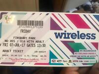 Friday 7th July 2017 Wireless tickets