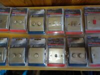 12 pearl nickel Wickes light switch socket tv aerial dimmer cooker shaver