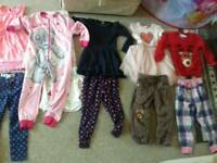 Girls clothes job lor sizes 3 to 5 age dress outfit trousers pj's jumpers
