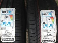 2x 225 45 17 continental tyres