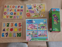 Kids Children Toys - Puzzles jigsaw Peppa Pig Wobly Worms ABC 123 Animals