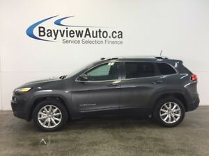 2016 Jeep CHEROKEE LTD- 4x4! PANOROOF! REM START! NAV! REV CAM!