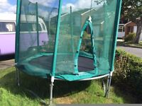 Trampoline 8ft. ! year old, VGC with safety net