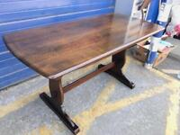 VINTAGE REFECTORY STYLE DINING TABLE - ANTIQUE VINTAGE RETRO 1