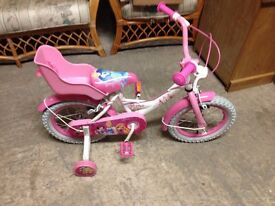 EX SHOP DISPLAY=DISNEY MY LITTLE PRINCESS/GIRLS BICYCLE