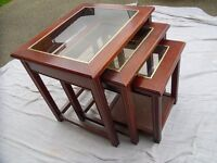 Nest of three side tables