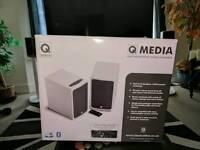 Q ACOUSTICS Q-BT3 Bluetooth speakers.