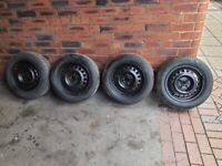 4x100 steel wheels and tyres vauxhall