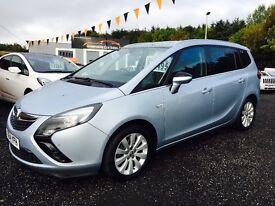 2014 Vauxhall Zafira Tech Line, sat nav, 12 months warranty, Finance from only £62 per week!