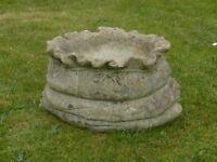 Unusual Sack Design Cast Stone Garden Planter Garden Pot with Rope Detail