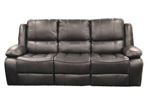 Grey Leather Recliner  Set - Sofa, Loveseat and chair (BD-1775)