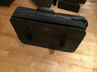 Black canvas suitcase 29""