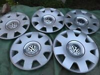 VW Beetle 16 inch wheel trims x5