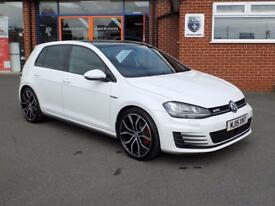 VOLKSWAGEN GOLF 2.0 GTD 5dr (180) ** Pan Roof + 19 Inch Alloys ** (white) 2015