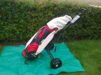 Set of golf clubs and bag etc.