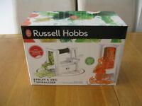 Russell Hobbs Fruit & Veg Spiralizer c/w Interchangeable Blades BRAND NEW IN BOX