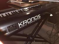 KORG KRONOS 73 piano-weighted keys + Hard Case + Stand + Pedal + Manual