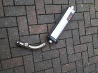 Venom Motad Silencer Exhaust End Can for VFR800Fi Non Vtec
