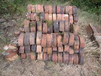 Vintage / Victorian Half Round / Half Moon Red Coping Bricks, Reclaimed, 165 in total.