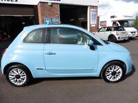 Fiat 500 LOUNGE (blue) 2014