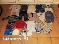 9-12 months clothes bundle