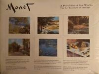Six Monet reproductions