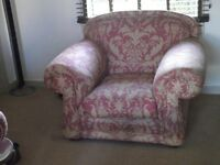 GREAT QUALITY MATCHING LARGE SOFA,CHAIR AND FOOTSTOOL