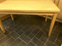 SOLID LIGHT WOOD KITCHEN DINING TABLE ( TABLE ONLY NO CHAIRS )
