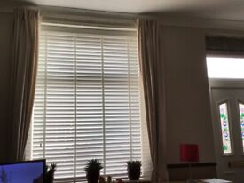 Pencil pleat curtains quality in cream , lined