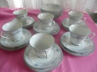 Noritaki Bone China Blue Hill Tea Set