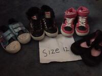 Girls size 12 shoes bundle