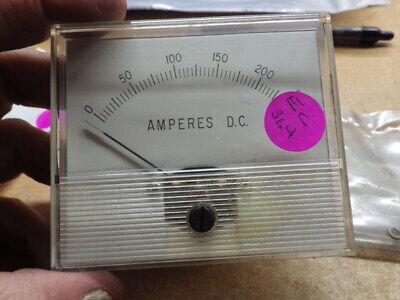 New Unused Dixson Usa Panel Meter Guage Amperes Dc 0-250
