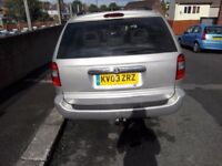 chrysler grand voyager 2.5 crd disel 2003 7 seat tow bar need go asap
