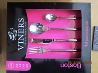 Various sets of 16 & 24 piece Viners cutlery stainless steel rrp £25