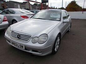 *MERCEDES C220 COUPE AUTOMATIC*2.2 DIESEL*8 SERVICE STAMPS*FULL YEARS MOT*EXCELLENT CONDITION*£2495*